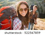 girl with man near the canyon.... | Shutterstock . vector #522567859