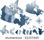 map of canada and provinces | Shutterstock .eps vector #52257445