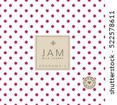 jam label wild cherry. swatch...   Shutterstock .eps vector #522578611