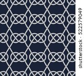 Seamless Nautical Rope Pattern...
