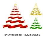 set of ribbon on christmas tree ... | Shutterstock .eps vector #522580651