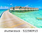 beautiful water villas in... | Shutterstock . vector #522580915