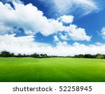 green field and trees | Shutterstock . vector #52258945