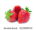 strawberries isolated on white | Shutterstock . vector #522589915