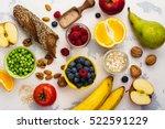 food rich of fiber. healthy... | Shutterstock . vector #522591229