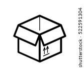 moving box minimalistic flat... | Shutterstock .eps vector #522591304