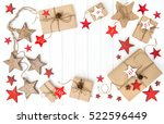 wrapped gifts advent calendar... | Shutterstock . vector #522596449