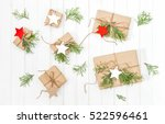 gifts with christmas tree... | Shutterstock . vector #522596461