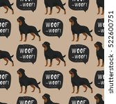 Dog Rottweiler Pattern Colorfu...