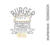 burger with sesame seeds bun... | Shutterstock .eps vector #522602224