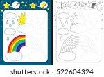 preschool worksheet for... | Shutterstock .eps vector #522604324