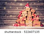 christmas background with... | Shutterstock . vector #522607135