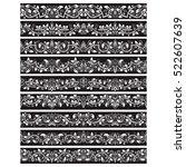 black white vintage elements... | Shutterstock .eps vector #522607639