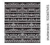 black white vintage elements... | Shutterstock .eps vector #522607651