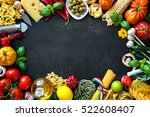 italian food ingredients....   Shutterstock . vector #522608407