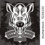 wild boar logo | Shutterstock .eps vector #5226133