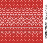 christmas knitting seamless... | Shutterstock .eps vector #522614311