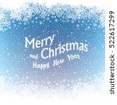 christmas border silhouette.... | Shutterstock .eps vector #522617299