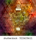 merry christmas and happy new... | Shutterstock .eps vector #522623611