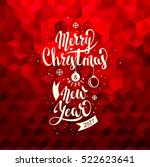 merry christmas and happy new... | Shutterstock .eps vector #522623641