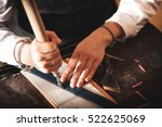 leather handbag craftsman at... | Shutterstock . vector #522625069