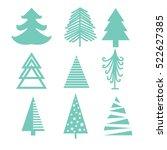 creative green mint christmas... | Shutterstock .eps vector #522627385