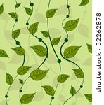 pattern of vines green peas | Shutterstock .eps vector #52262878
