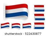 flag of netherlands holland is... | Shutterstock .eps vector #522630877