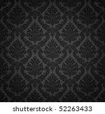 seamless damask wallpaper | Shutterstock .eps vector #52263433