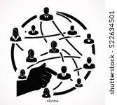 social network vector logo...   Shutterstock .eps vector #522634501