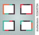 set of photo frames  realistic... | Shutterstock .eps vector #522635704