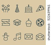 set of 12 celebration icons....