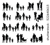 family with children set... | Shutterstock .eps vector #522640615