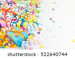 colored gift boxes with... | Shutterstock . vector #522640744