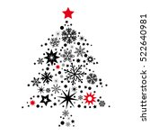 christmas tree made from stars... | Shutterstock .eps vector #522640981