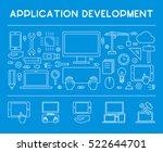 line design concept web banner... | Shutterstock .eps vector #522644701