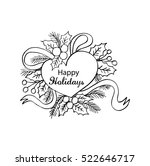happy holidays. christmas... | Shutterstock .eps vector #522646717