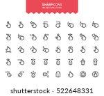 minimalistic thin line gesture... | Shutterstock .eps vector #522648331