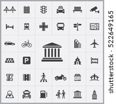 bank icon. city icons universal ... | Shutterstock .eps vector #522649165