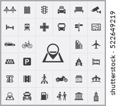 map pin icon. city icons...