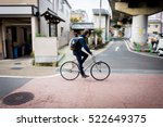 panning shot of a man on... | Shutterstock . vector #522649375