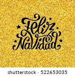 feliz navidad greetings on... | Shutterstock .eps vector #522653035