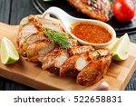 marinated grilled  chicken... | Shutterstock . vector #522658831