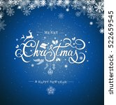 christmas typography ... | Shutterstock .eps vector #522659545