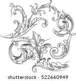 vector vintage baroque... | Shutterstock .eps vector #522660949