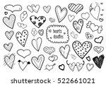 heart doodles   Shutterstock .eps vector #522661021