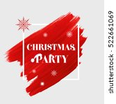 'christmas party' sign text... | Shutterstock .eps vector #522661069