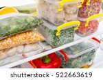 frozen food in the refrigerator.... | Shutterstock . vector #522663619