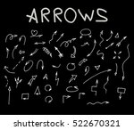 arrows set. hand drawn ... | Shutterstock .eps vector #522670321