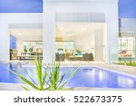 close up of swimming pool near... | Shutterstock . vector #522673375